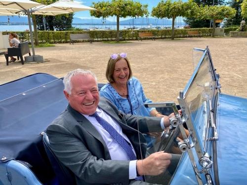 Jean-Michel Isoz, Président du RC Nyon-La Côte et Sabine Hooij