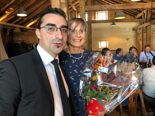 Françoise Crot, une AG fleurie