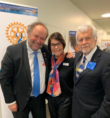 Trio de gouverneurs à la Rotary UNI à Payerne