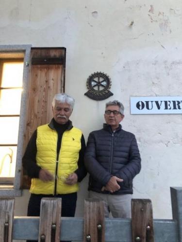 iPDG Blaise Matthey et Président du RC Sierre Rino Rutigliani à l'Hôtel Weisshorn