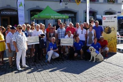 Remise du Chèque de CHF 25'000 à la Fondation Romande pour Chiens-Guides d'Aveugles