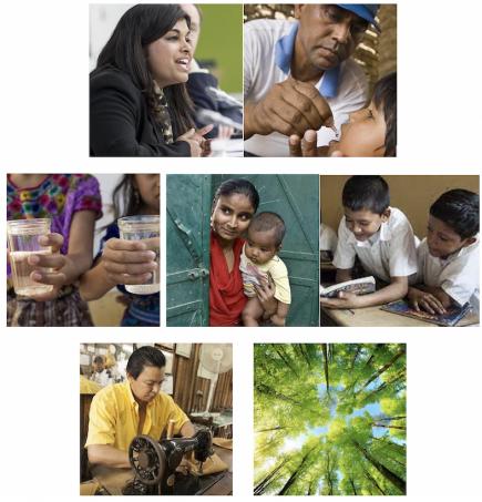 Paix - Prévention maladies - Eau - Santé mère/enfant - Alphabétisation/éducation - Dév. économique - Environnement