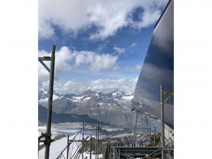 Besichtigung der atemberaubenden Hochgebirgsbaustelle am Klein Matterhorn