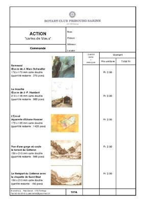 Bulletin de commande pour les cartes de voeux