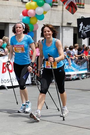 alt Bundesrätin Ruth Metzler-Arnold beim Frauenlauf 2013